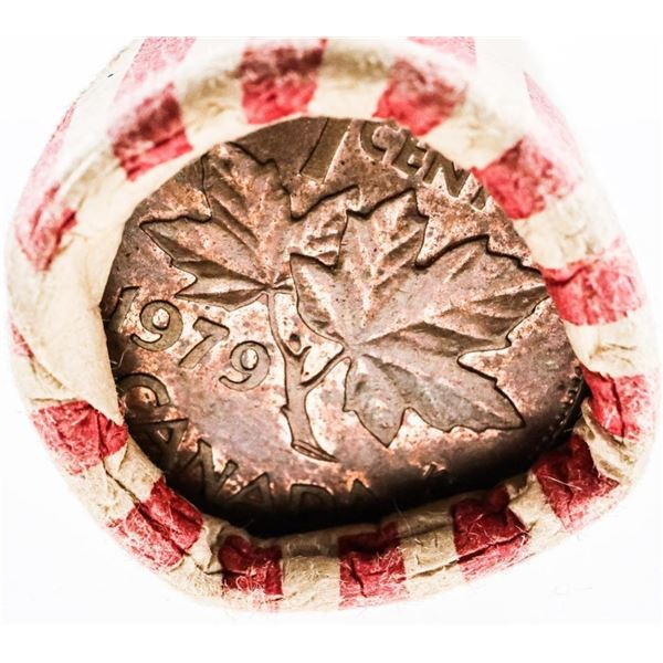 Roll Canada 1 Cent Coins 1979