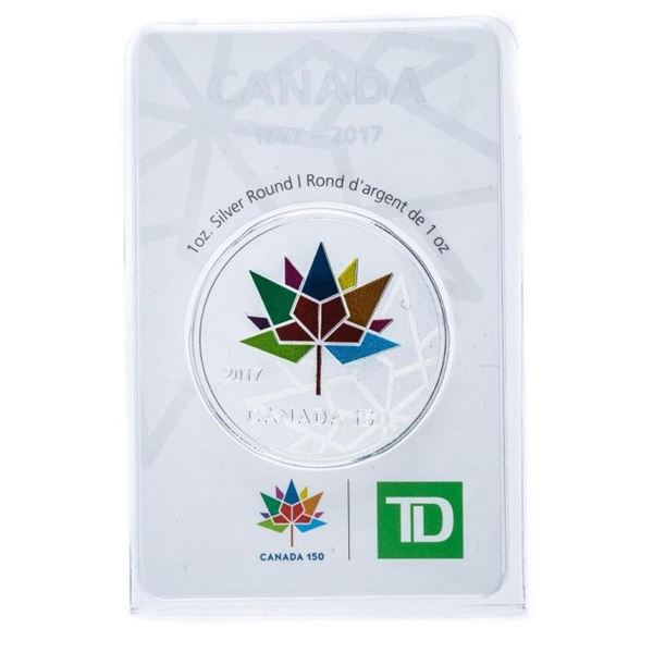 TD Bank Canada 1867-2017 .999 Fine Silver 1o  Ounce Troy Sealed Collector Round