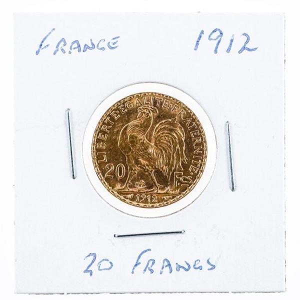 France 1912 20 Francs Gold Coin
