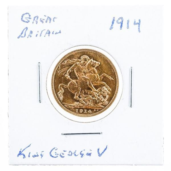 Great Britain - 1914 Gold King George II  Sovereign