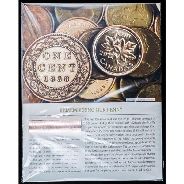 RCM 2012 'Farewell to the Penny' .999 Fine  Silver 1 Cent Coin with Selective Gold  Plated. Scarce