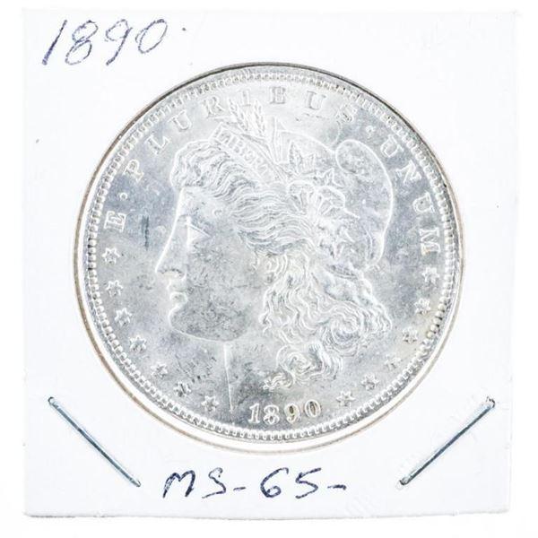 1890 USA Silver Morgan Dollar MS65