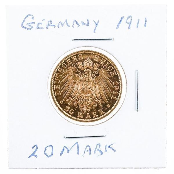 Germany 1911 20 Mark Gold Coin