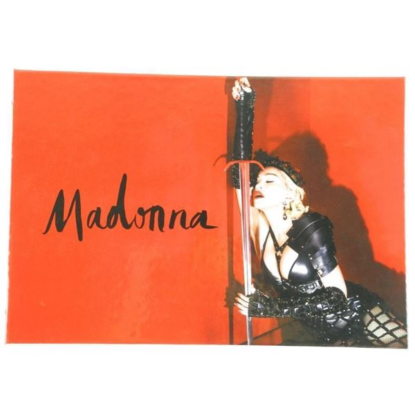 MADONNA - VIP Authentic Memorabilia Album  Presented to VIP Guests Only - At the Concert