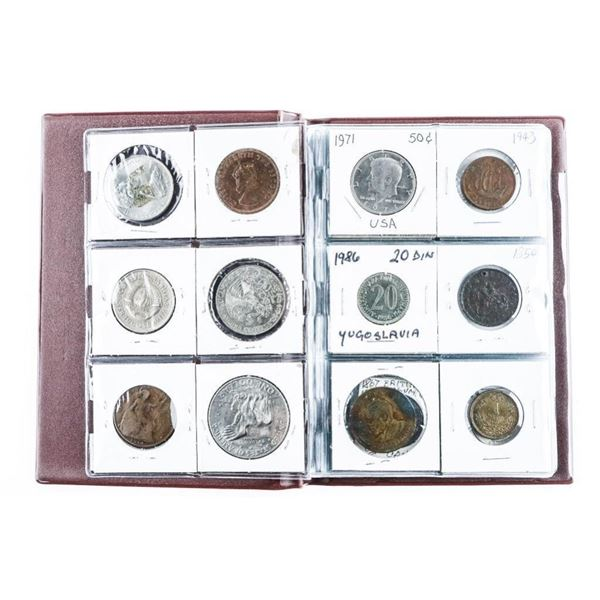 Coin Stock Book with 24 World Coins (Includes  Silver)