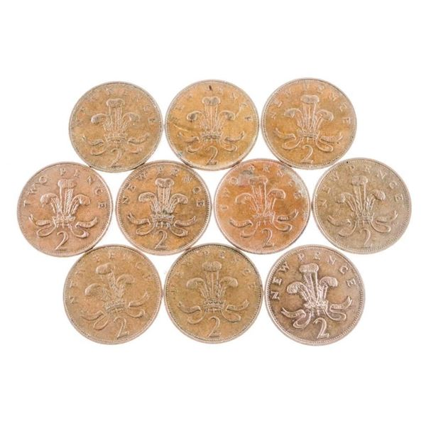 Bag Lot 2 Pence Coins