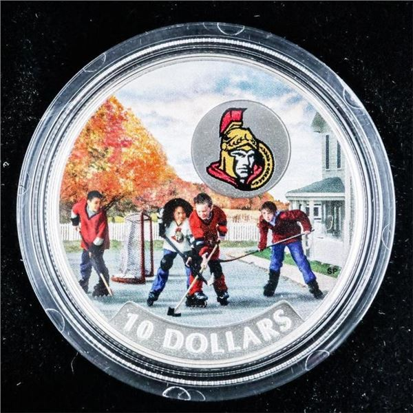 RCM 2017 Passion To Play - Ottawa Senators  .9999 Fine Silver $10 Coin