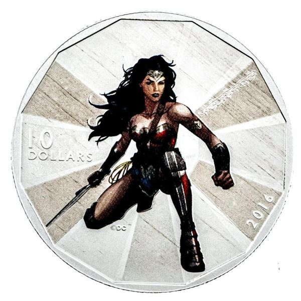 RCM 2016 Wonder Woman .9999 Fine Silver $10  Coin