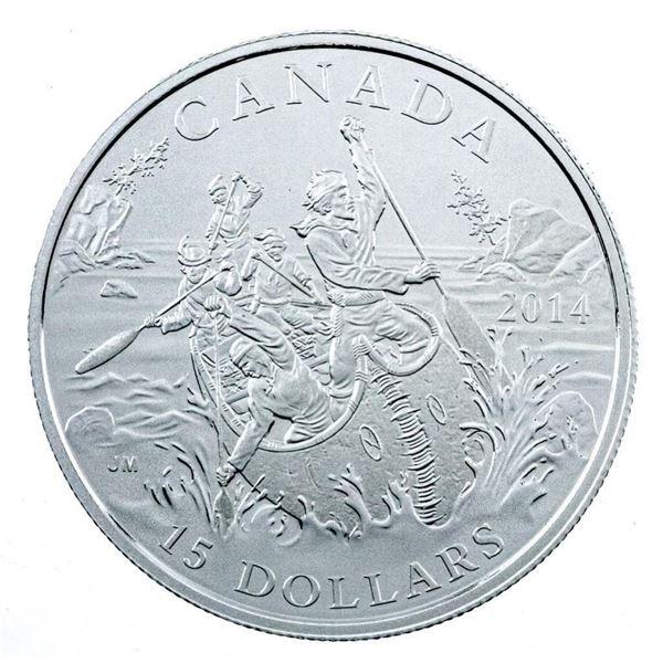 RCM 2014 The Voyageur .9999 Fine Silver $15  Coin