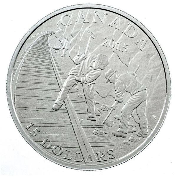 RCM 2015 Building Car .9999 Fine Silver $15  Coin