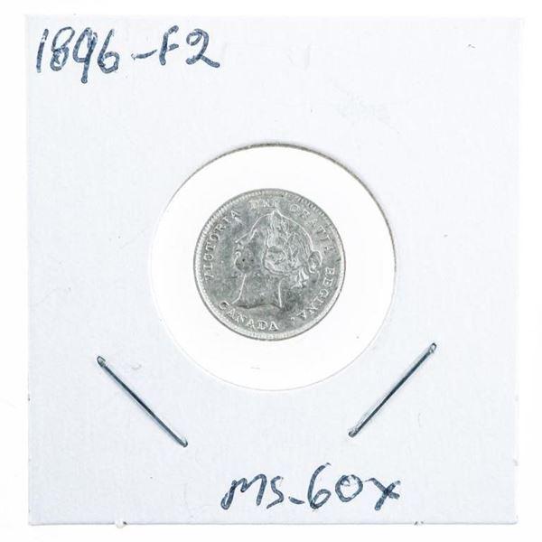 1896 -F2 Silver Victoria 5 Cents (oer)