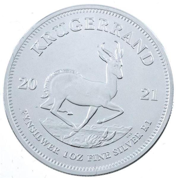 2021 South Africa 'Krugerrand' .999 Fine  Silver 1oz ASW