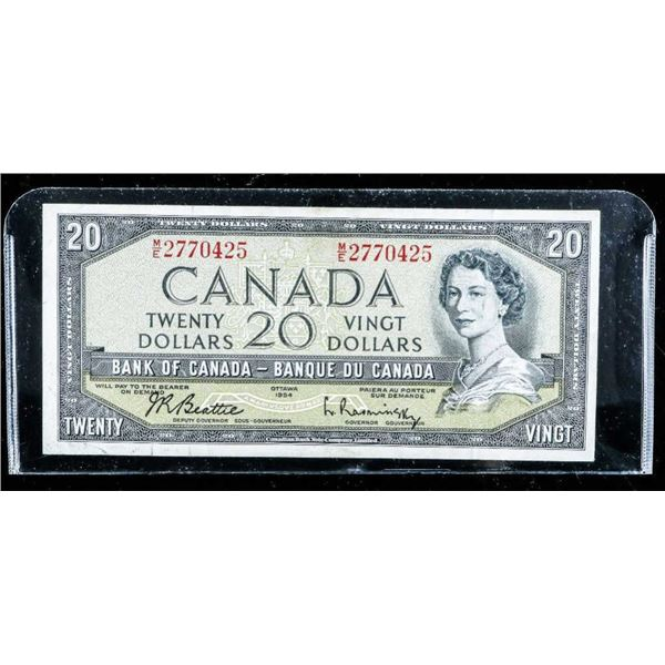 Bank of CANADA 1954 20.00 (M/E) B/R