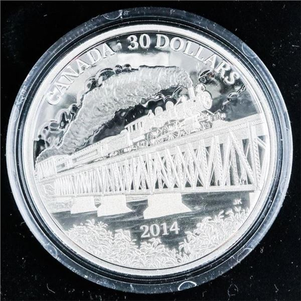 RCM 2014 100th Anniversary Grand Trunk  Pacific Railway .9999 $30 Coin