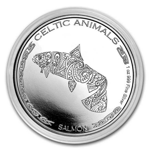 Scarce - 500 Francs .999 Fine Silver Salmon. 1oz ASW.