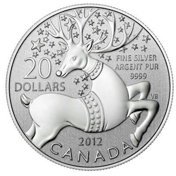Sold Out - RCM $20 Reindeer .9999 Fine Silver.