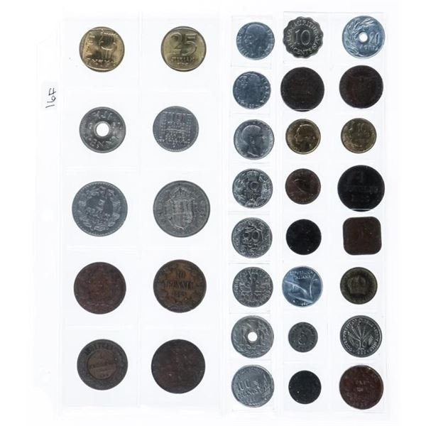 Group of (34) Foreign World Coins
