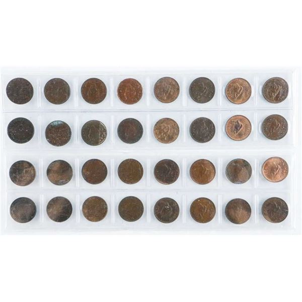 Lot (32) One Cent Coins