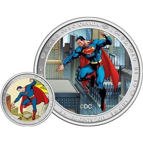 Royal Canadian Mint 50c Superman: Then and  Now Lenticular Coin & Stamp Set. SOLD OUT. Â