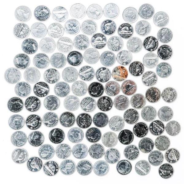 Lot/Bag 100 Canada Nickels