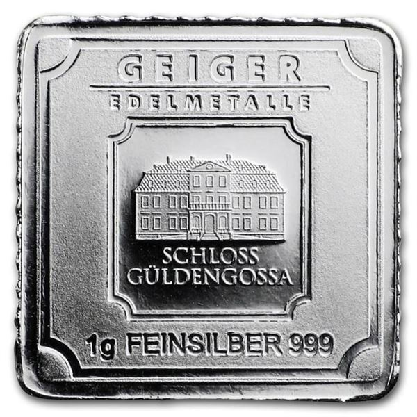 Germany .999 Fine Silver Bar with Serial and  Security Au Verso. (Serial Will Vary).