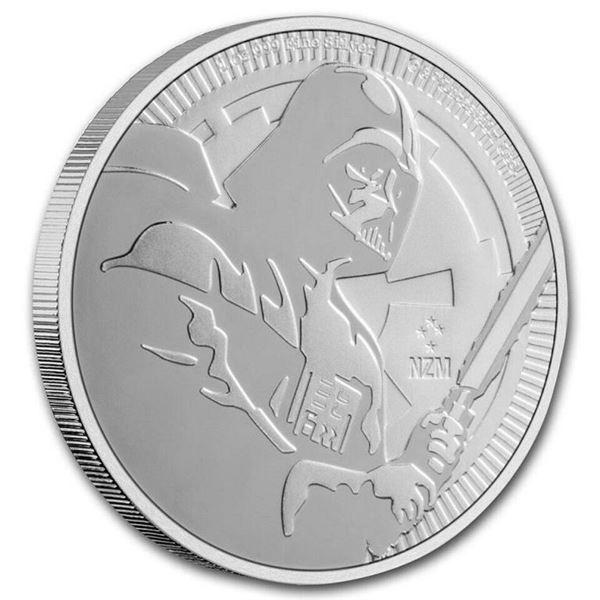 Scarce - Star Wars Darth Vader $2.00 Round.  .999 Fine Silver.