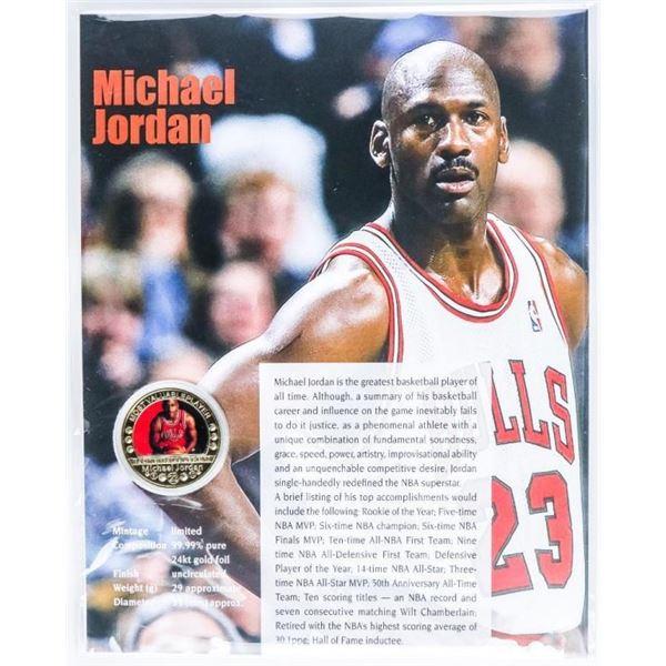 Michael Jordan MVP Collector Medallion w/ 8 x  10 Art Card