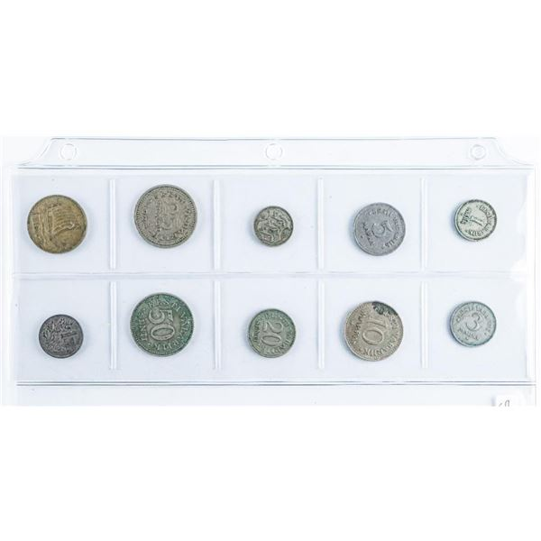 Lot of (10) Baltic Coins