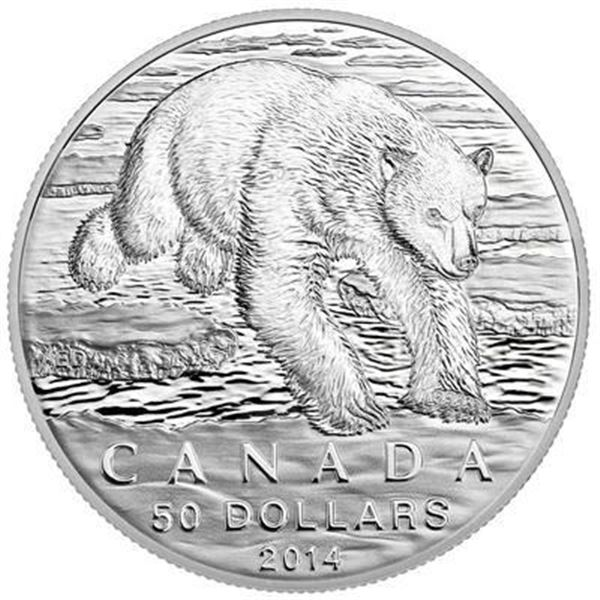 Sold Out - RCM $50 Bear .9999 Fine Silver.