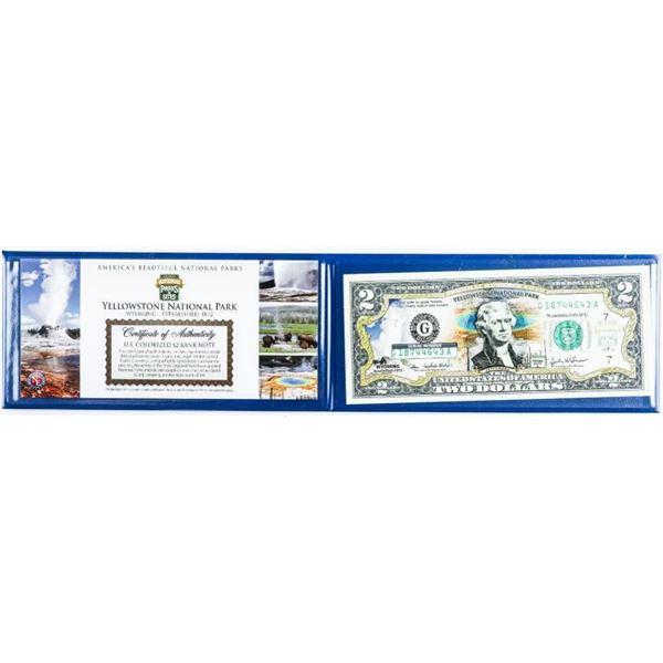 USA Commemorative Bank Note Colourized $2 in Folio
