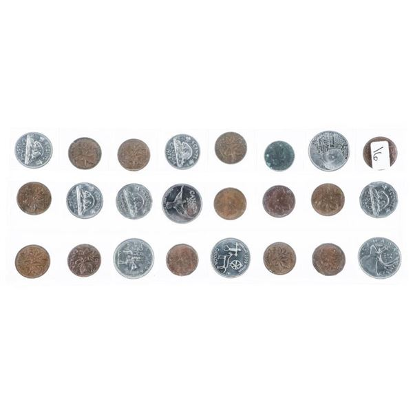 Group of (24) CANADA Coins Mixed