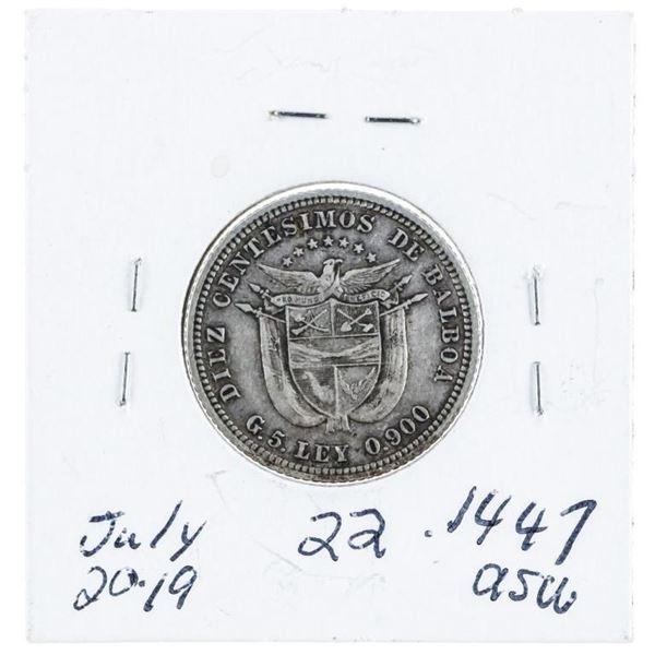 Panama 1904 Silver 10 Centes .1447 ASW