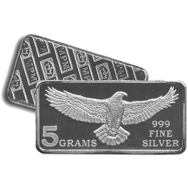 USA Eagle Bar .999 Fine Silver