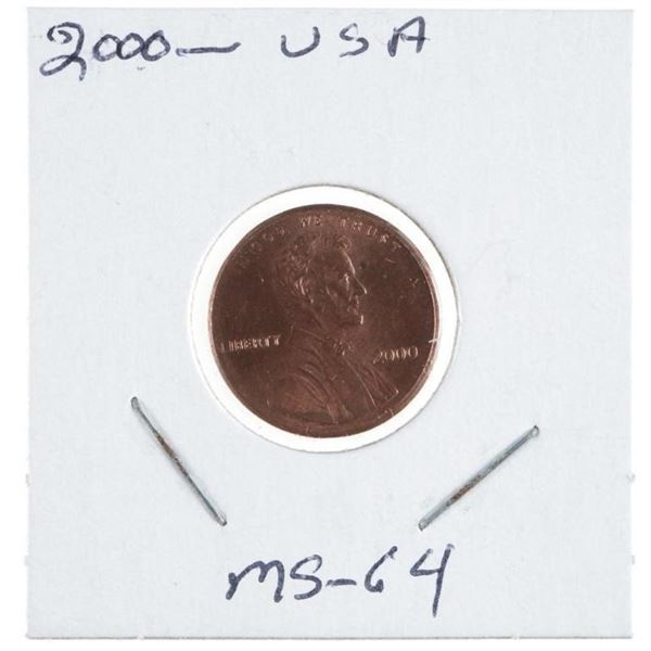 2000 USA Lincoln Cent MS66