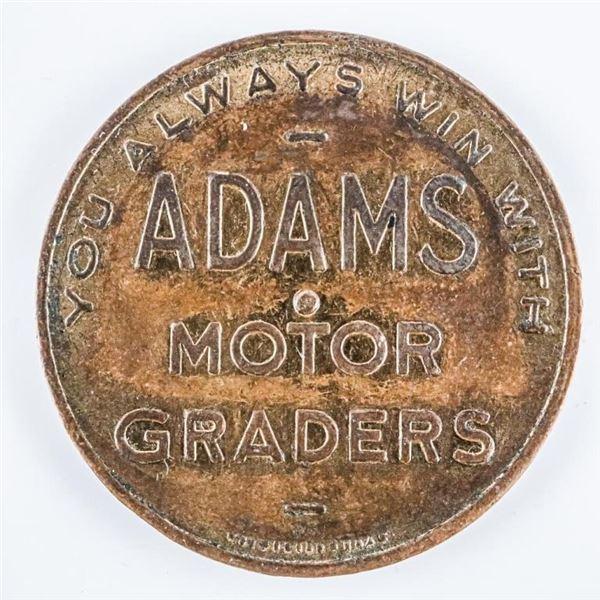 Vintage Canadian Adams Motor Graders, Brass Spinne
