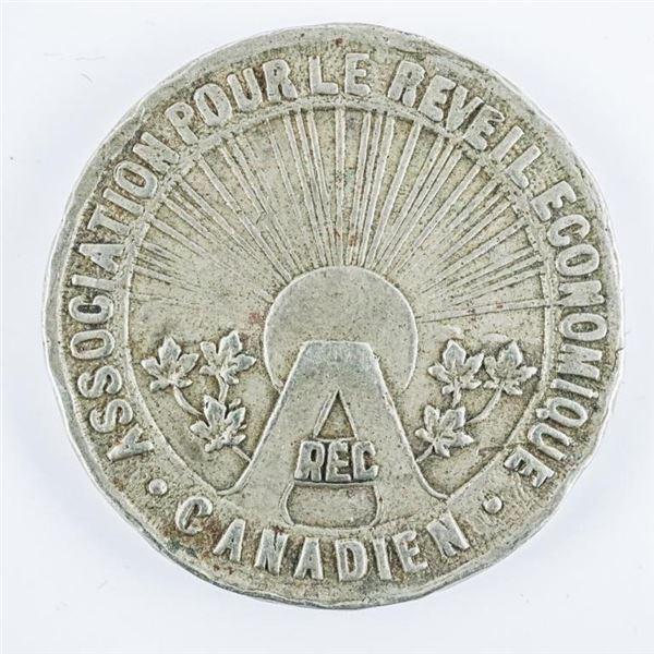 1934 Association Reveil Economique Canadian Medal