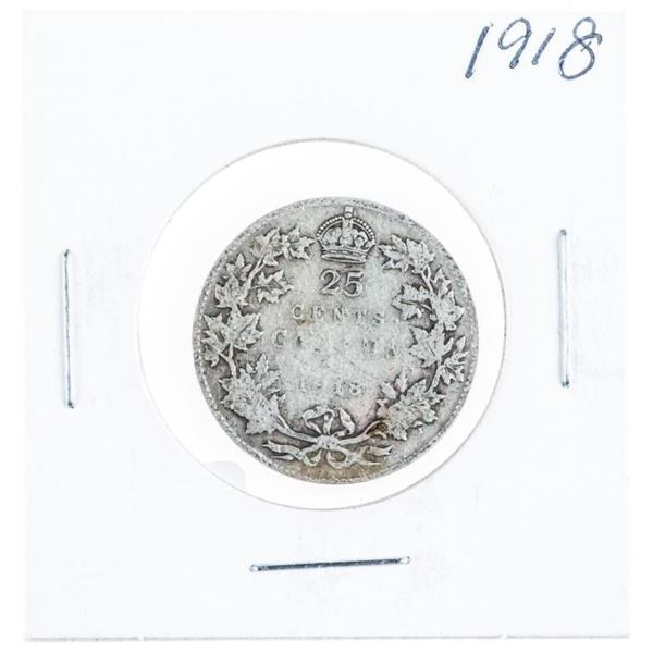 1918 Canada Silver 25 Cents