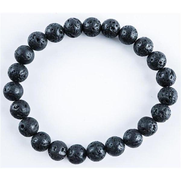 Black Lava Stone Flex Bracelet