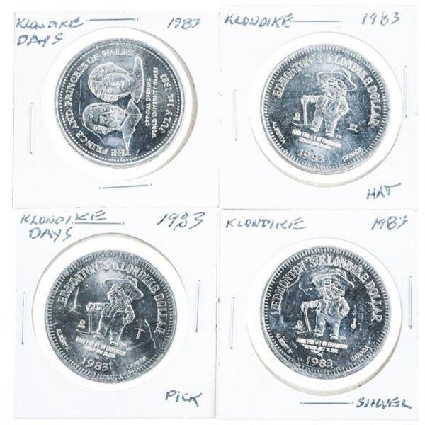 Group of 4 Klondike Days 1983 Medallions