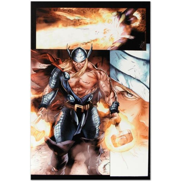 """Marvel Comics """"Secret Invasion: Thor #3"""" Numbered Limited Edition Giclee on Canv"""