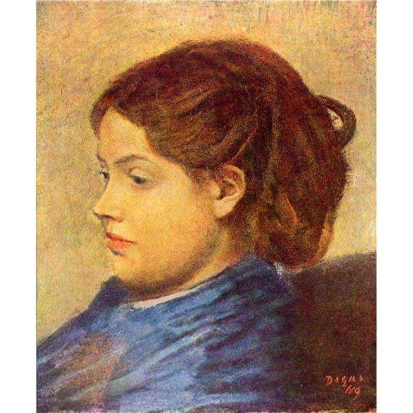 Edgar Degas - Portrait Of Mademoiselle Dobigny