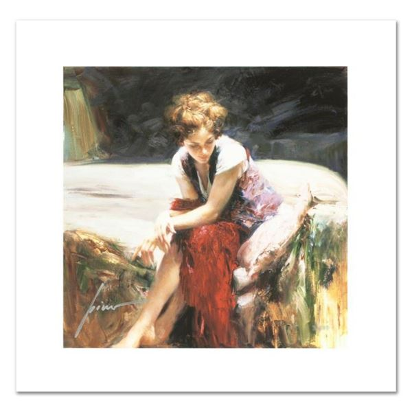 """Pino (1931-2010), """"Whispering Heart"""" Limited Edition on Canvas, Numbered and Han"""