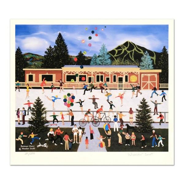 """Jane Wooster Scott, """"Summer Cheer"""" Hand Signed Limited Edition Lithograph with L"""