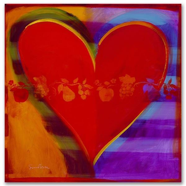 """""""Rainbow Road"""" Limited Edition Giclee on Canvas by Simon Bull, Numbered and Sign"""