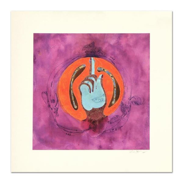 """Lu Hong """"Mudra Tarjani, Vigilance"""" Hand Signed Limited Edition Giclee with Lette"""