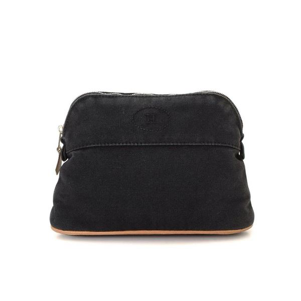 Hermes Black Bolide Pouch Clutch