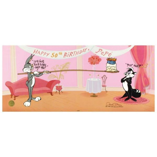 """Pepe's 50th Birthday"" by Chuck Jones (1912-2002). Limited Edition Animation Cel"