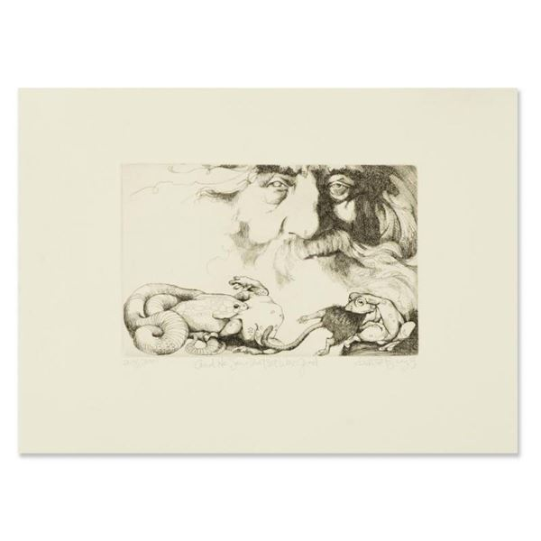 "Charles Bragg (1931-2017), ""And He Saw That it Was Good"" Limited Edition Etching"
