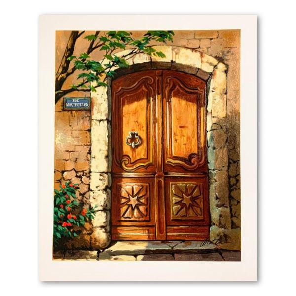 """Anatoly Metlan, """"Rue Mouffetard"""" Hand Signed Limited Edition Serigraph on Paper"""
