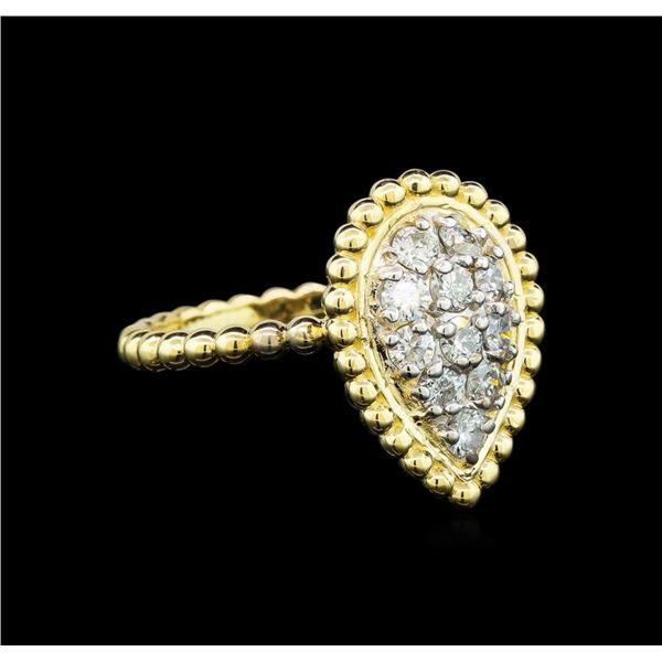 0.58 ctw Diamond Ring - 14KT Two Tone Gold